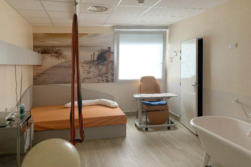 Salle nature maternité IHAB Pôle Santé Léonard de Vinci